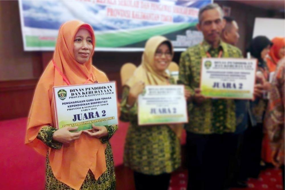 Cucun Nurhayati Guru Berprestasi Tingkat Provinsi Kaltim 2018
