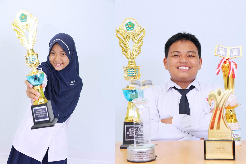 Juara Pidato dan Tahfiz Provinsi, Dua Siswa SMP Yabis Wakili Kaltim Lomba PAI Nasional di Makassar
