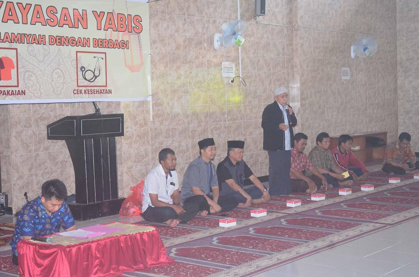 Acara ceremonial kegiatan Baksos, Bazar, dan Cek Kesehatan